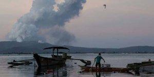 Patlayan yanardağın bulunduğu ada yerleşime kapatılacak