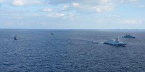 TCG ORUÇREİS AB Gemileriyle Doğu Akdeniz'de Geçiş Eğitimleri yaptı