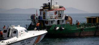 """Atık toplama gemisi """"Gülşenim"""" balıkçı kayığına çarptı"""