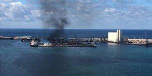 Trablus Limanı'nda akaryakıt boşaltma işlemi durduruldu