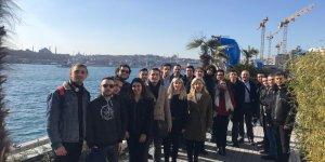 Denizci öğrencilerden Galataport gezisi