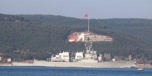 ABD donanmasına ait gemi boğazdan geçti