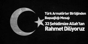 Türk Armatörler Birliği'nden Başsağlığı Mesajı