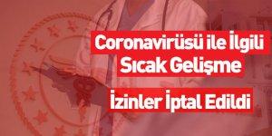 Coronavirüsü ile İlgili Sıcak Gelişme