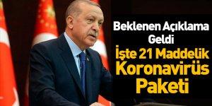 Cumhurbaşkanı Erdoğan'dan 21 Maddelik Koronavirüs Paketi