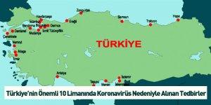 Türkiye'nin Önemli 10 Limanında Koronavirüs Nedeniyle Alınan Tedbirler