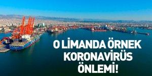 Mersin Limanı'nda Örnek Koronavirüs Önlemi