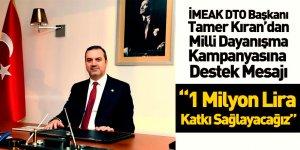 İMEAK Deniz Ticaret Odası'ndan  Milli Dayanışma Kampanyasına 1 Milyon Tl Destek