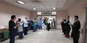 Erzurum'da Taburcu Olan Hastalar Alkışlarla Uğurlandı
