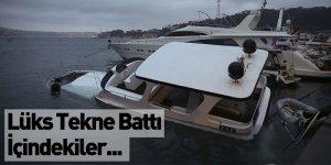 Lüks Gezi Teknesi Battı