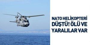 NATO'ya Ait Bir Helikopter Düştü