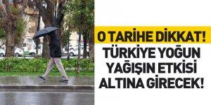 Türkiye Yoğun Yağışın Etkisine Girecek