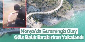 Konya'da Esrarengiz Olay, Göle Balık Bırakırken Yakalandı
