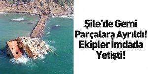 Şile'de Parçalara Ayrılan Gemi Karaya Çıkartıldı