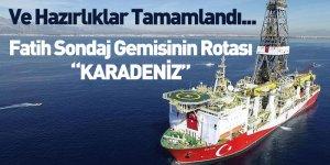 """Fatih Sondaj Gemisinin Rotası """"KARADENİZ"""""""