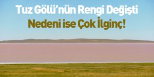 Tuz Gölü'nün Rengi Değişti Nedeni İse Çok İlginç!