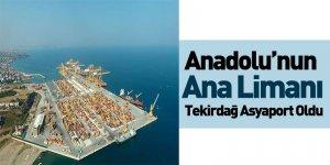 Anadolu'nun Ana Limanı Tekirdağ Asyaport Oldu
