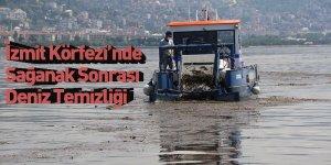 İzmit Körfezi'nde Sağanak Sonrası Deniz Temizliği