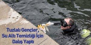 Tuzlalı Gençler, Su Altı Temizliği İçin Dalış Yaptı