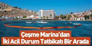 Çeşme Marina'dan İki Acil Durum Tatbikatı Bir Arada