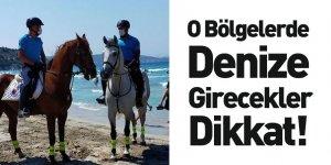 Atlı Jandarma Birlikleri İzmir Plajlarını Denetliyor