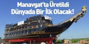 Dünyanın En Büyük Turizm Amaçlı Korsan Gemisi Manavgat'tan Suya İndirildi