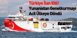 Türkiye NAVTEX İlan Etti, Yunanistan Genelkurmayı Acil Ülkeye Döndü