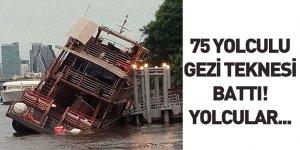 Bangkok'ta75 yolculu Gezi Teknesi Battı