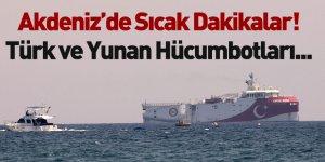 Türk Hücumbotuyla Yunan Hücumbotu Akdeniz'de Karşı Karşıya Geldi