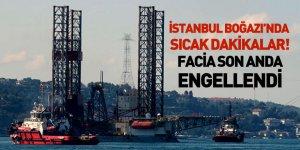 İstanbul Boğazı'ndan Geçen Dev Platform Kazaya Neden Olacaktı