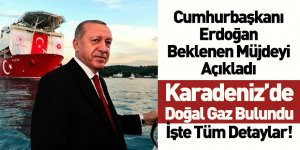 Cumhurbaşkanı Recep Tayyip Erdoğan Müjdeyi Açıkladı! Karadeniz'de Doğal Gaz Bulundu