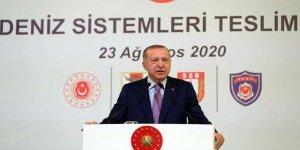 Cumhurbaşkanı Erdoğan Yeni Deniz Sistemleri Teslim Töreni'nde Konuştu