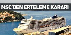 MSC Cruises'tan Cruise Turları İçin Erteleme Kararı