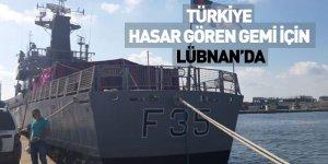 Türkiye Hasar Gören Gemi İçin Lübnan'da