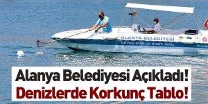 Alanya Belediyesi 402 Kilogram Deniz Çöpü Topladı