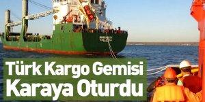 Türk Kargo Gemisi Kerç Boğazı'nda Karaya Oturdu
