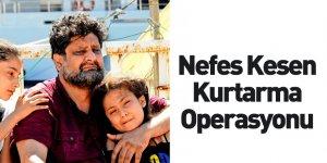 Teknesi Alabora Olan 157 Göçmeni Türk Sahil Güvenliği Kurtardı