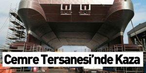 Cemre Tersanesi'nde Kaza! 6 İşçi Yaralandı