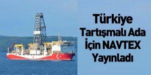 Türkiye Limni Adası İçin NAVTEX Yayınladı