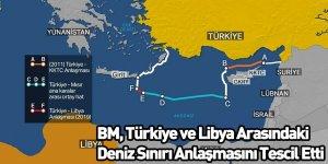 BM, Türkiye ve Libya Arasındaki Deniz Sınırı Anlaşmasını Tescil Etti