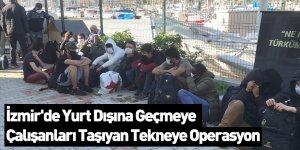 İzmir'de Yurt Dışına Geçmeye Çalışanları Taşıyan Tekneye Operasyon