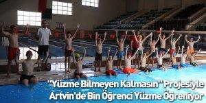 """""""Yüzme Bilmeyen Kalmasın"""" Projesiyle Artvin'de Bin Öğrenci Yüzme Öğreniyor"""