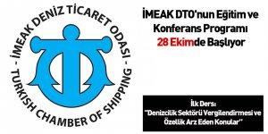 İMEAK DTO'nun Eğitim ve Konferans Programı 28 Ekimde Başlıyor