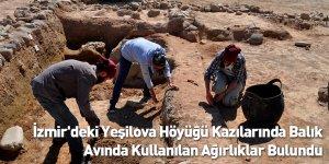 İzmir'deki Yeşilova Höyüğü Kazılarında Balık Avında Kullanılan Ağırlıklar Bulundu
