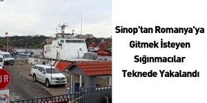 Sinop'tan Romanya'ya Gitmek İsteyen Sığınmacılar Teknede Yakalandı