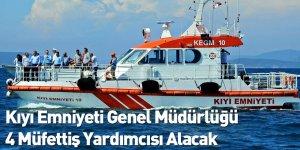Kıyı Emniyeti Genel Müdürlüğü 4 Müfettiş Yardımcısı Alacak