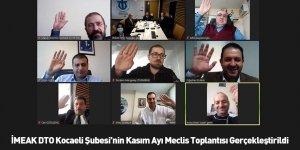 İMEAK DTO Kocaeli Şubesi'nin Kasım Ayı Meclis Toplantısı Gerçekleştirildi