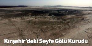 Kırşehir'deki Seyfe Gölü Kurudu