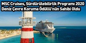 MSC Cruises, Sürdürülebilirlik Programı 2020 Deniz Çevre Koruma Ödüllü'nün Sahibi Oldu