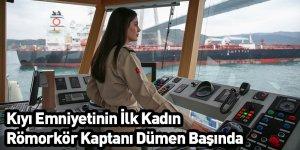 Kıyı Emniyetinin İlk Kadın Römorkör Kaptanı Dümen Başında